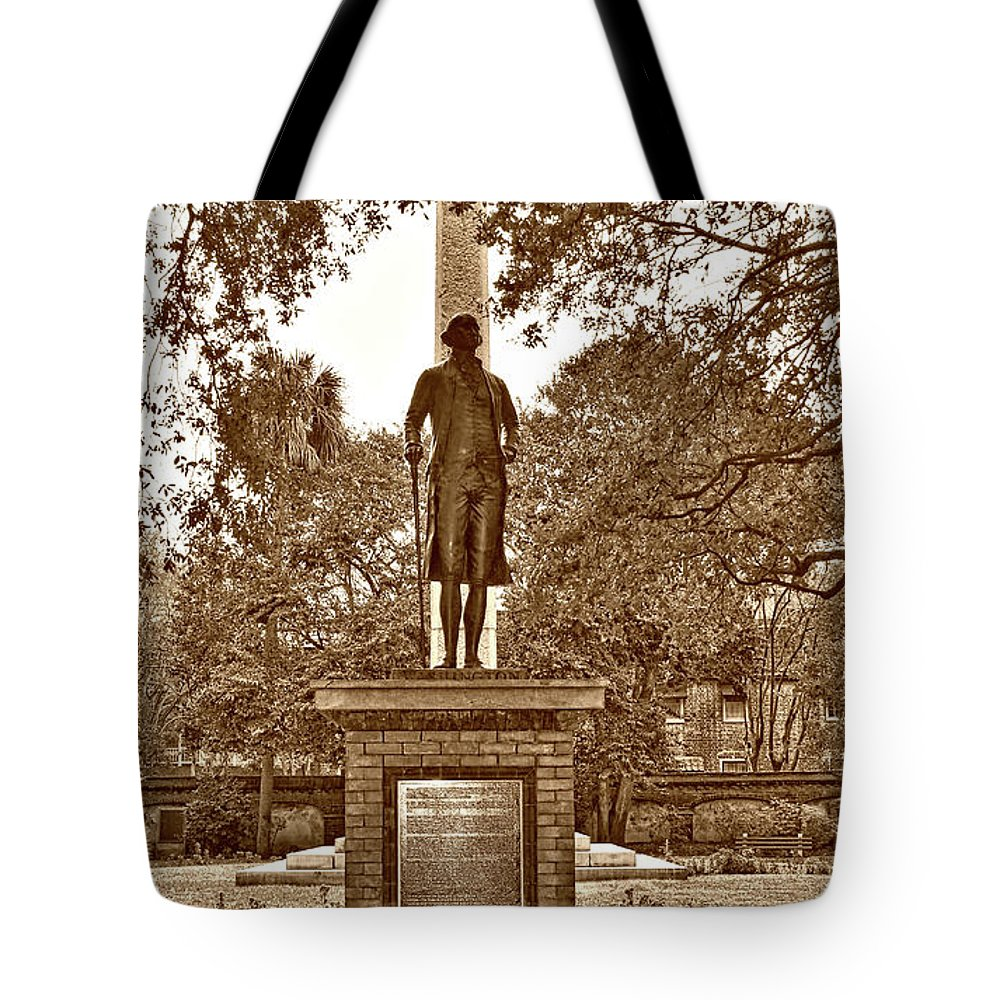 Culture Tote Bag featuring the photograph George Washington, Charleston,sc by Skip Willits