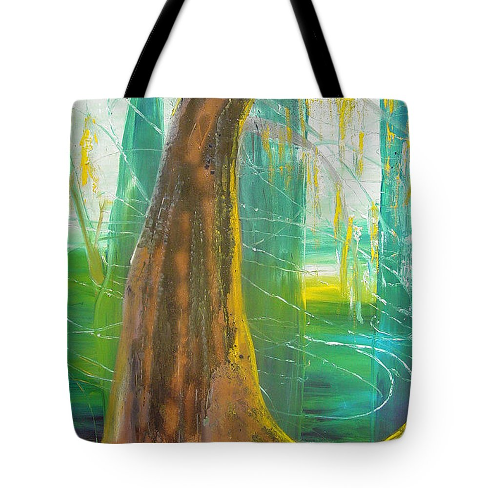Landscape Tote Bag featuring the painting Georgia Morning by Peggy Blood