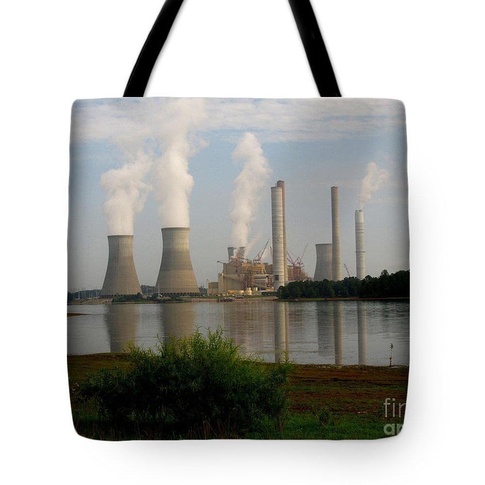 Lake Juliette Photographs Tote Bags