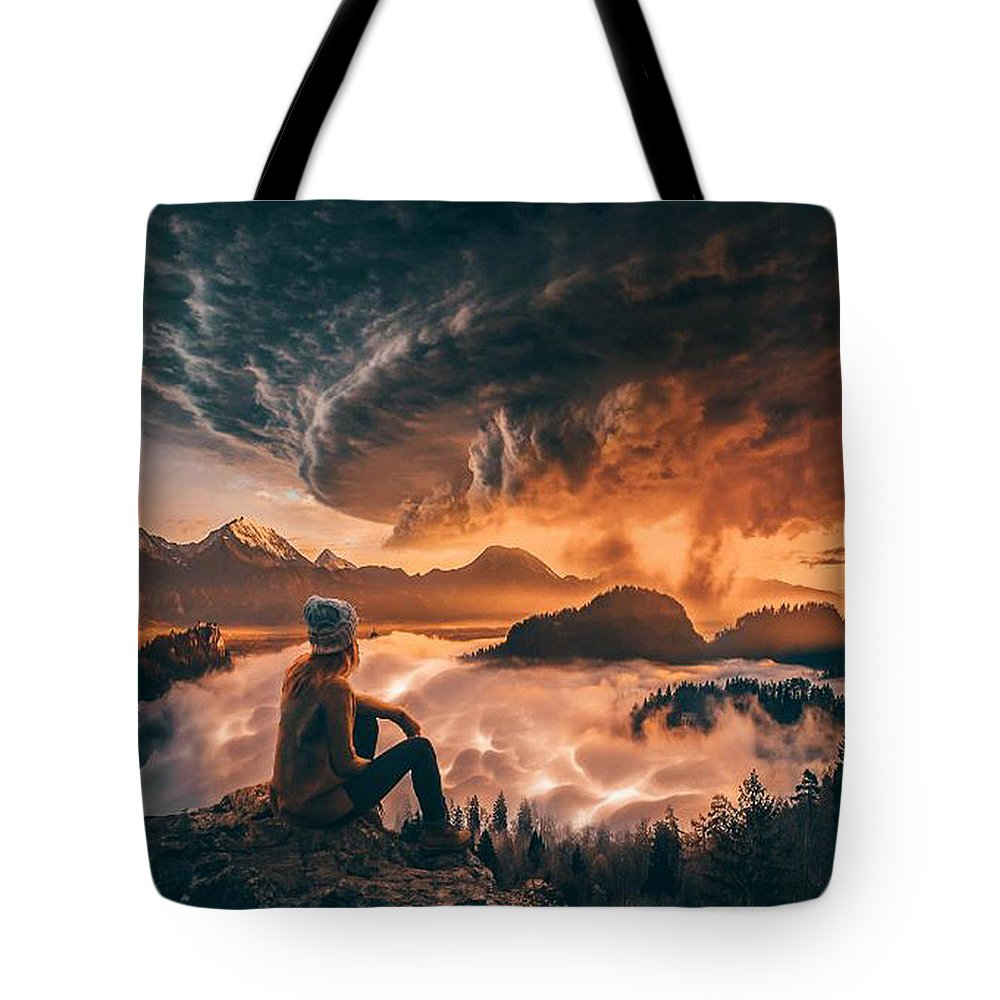 Storm Tote Bag featuring the digital art Geostorm by Alexander McWherter