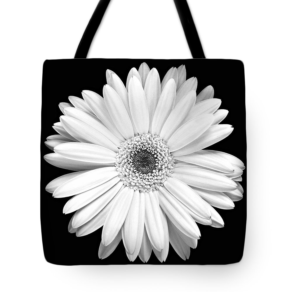 Gerber Tote Bag featuring the photograph Single Gerbera Daisy by Marilyn Hunt