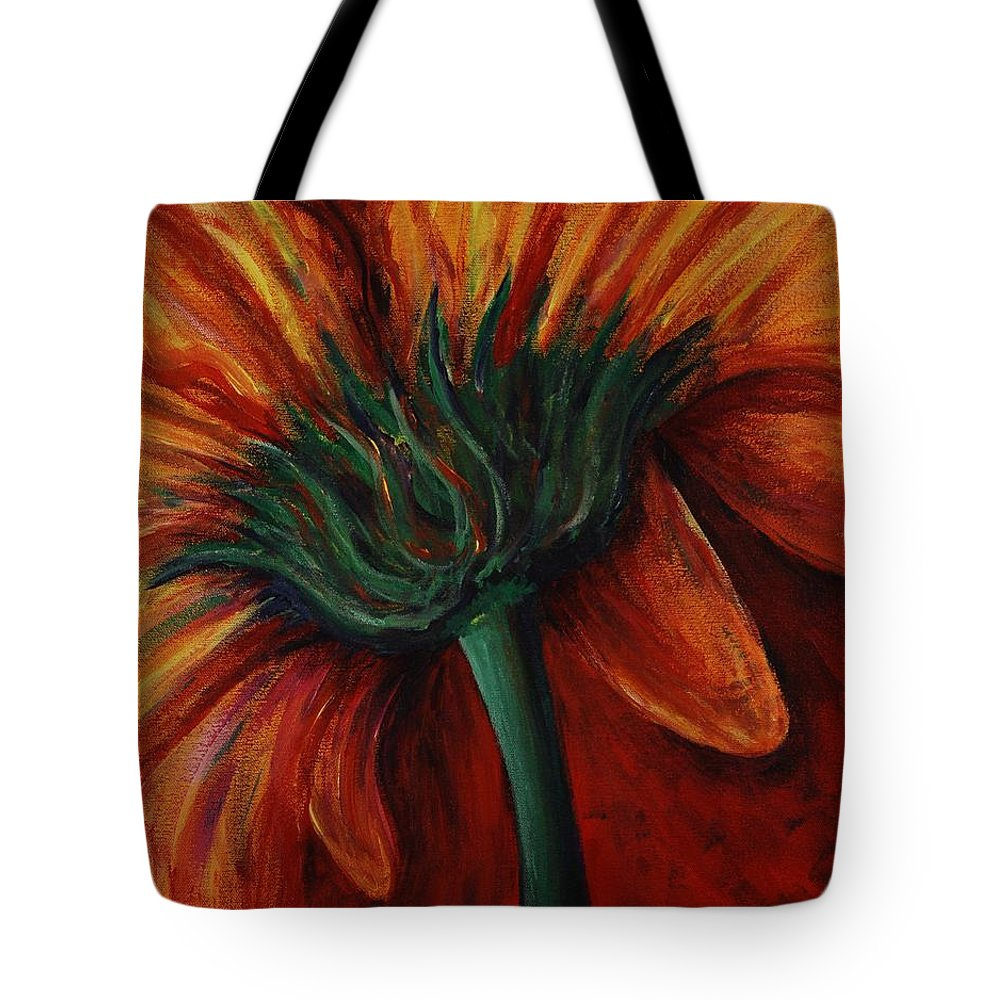 Gerbera Daisy.daisy Tote Bag featuring the painting Gerbera Daisy by Nadine Rippelmeyer