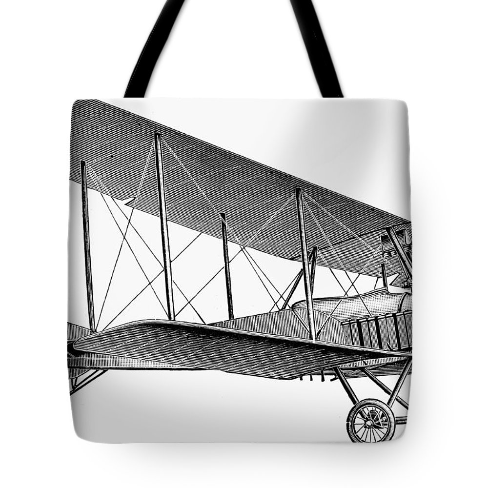 1913 Tote Bag featuring the photograph German Airplane, 1913 by Granger