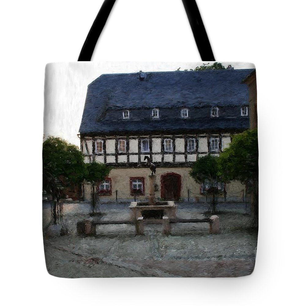 Germany Tote Bag featuring the photograph German Town Square by Marc Champagne