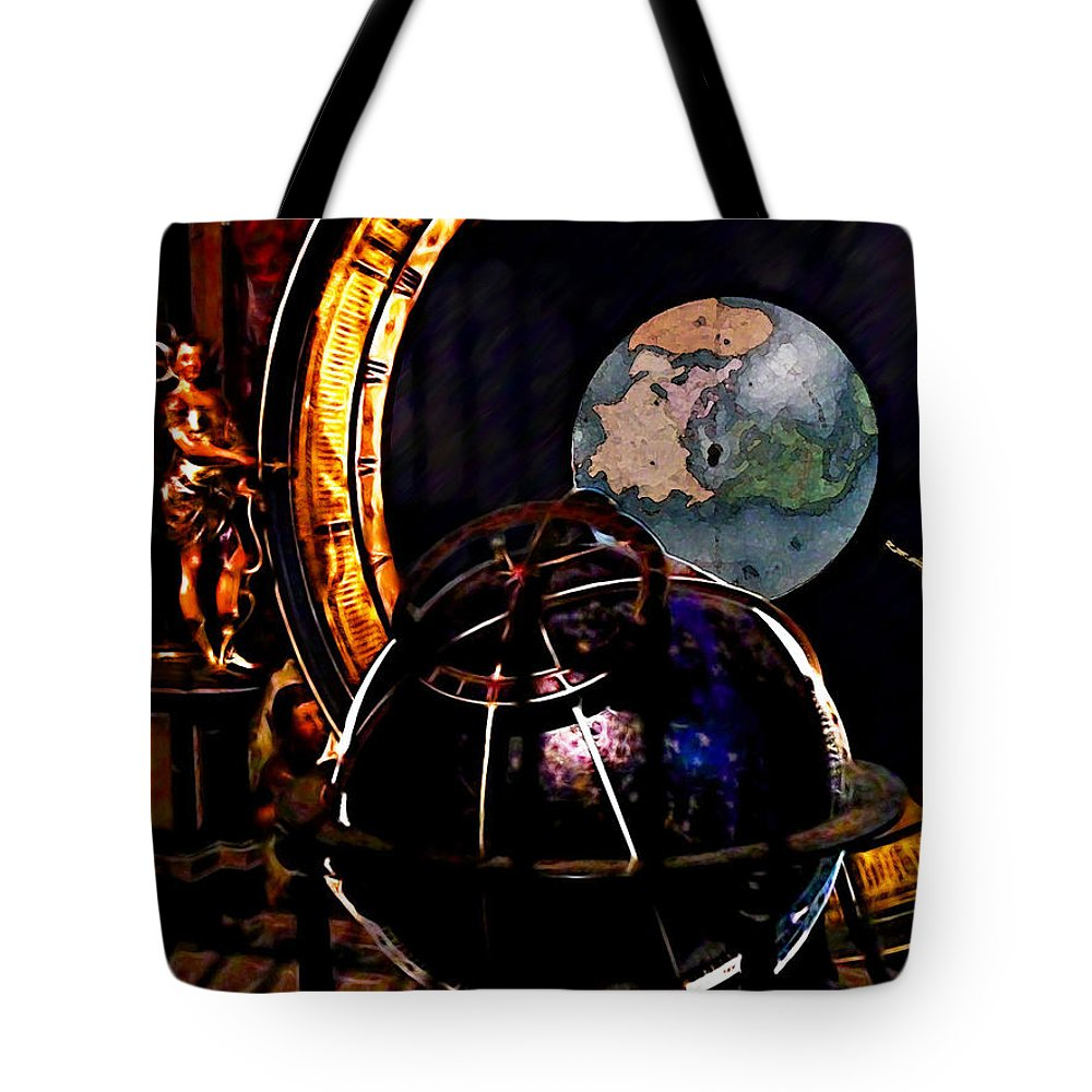 Astrology Tote Bag featuring the photograph German World Atlas by Joan Minchak