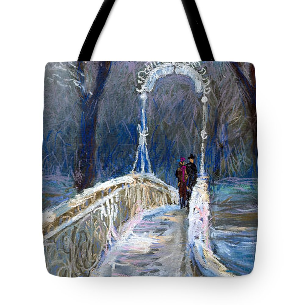 Pastel Tote Bag featuring the painting Germany Baden-baden 02 by Yuriy Shevchuk