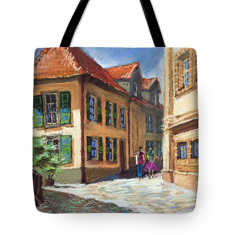 Pastel Tote Bag featuring the painting Germany Baden-baden 04 by Yuriy Shevchuk