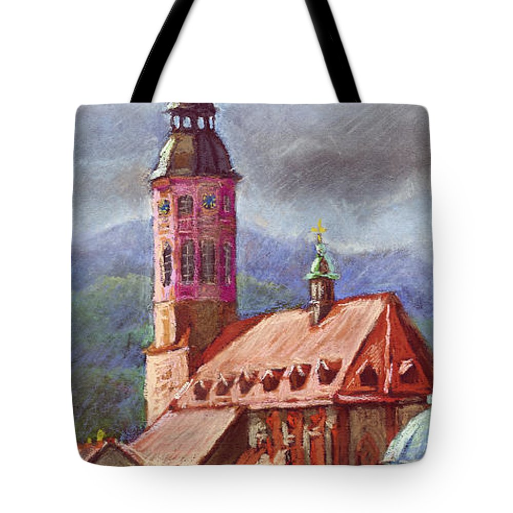 Pastel.germany Tote Bag featuring the painting Germany Baden-baden 05 by Yuriy Shevchuk
