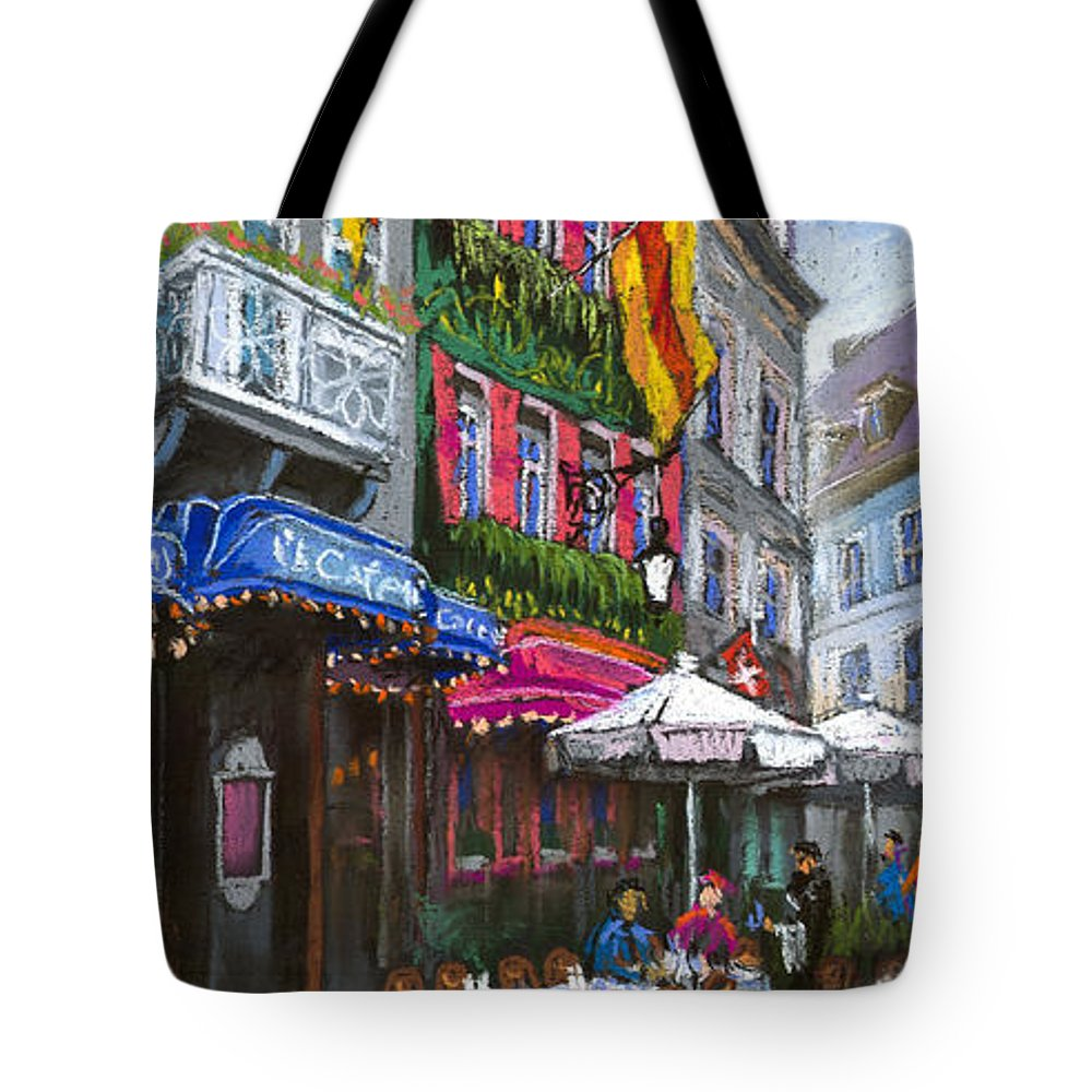 Pastel Tote Bag featuring the painting Germany Baden-baden 10 by Yuriy Shevchuk