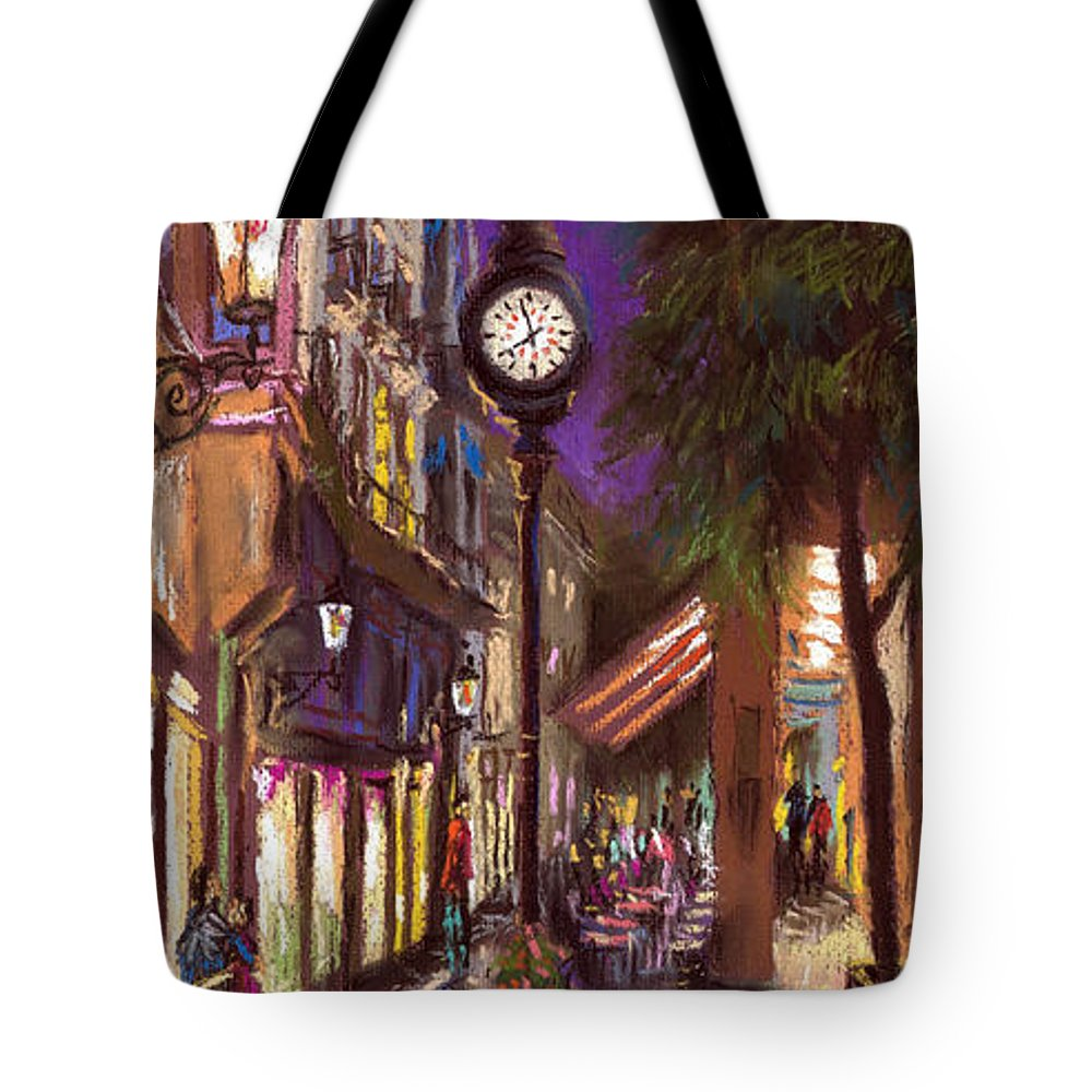 Pastel Tote Bag featuring the painting Germany Baden-baden 11 by Yuriy Shevchuk