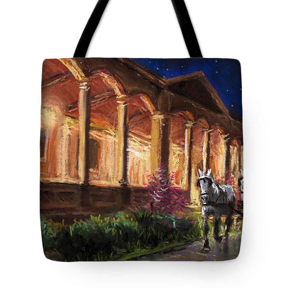 Pastel Tote Bag featuring the painting Germany Baden-baden 13 by Yuriy Shevchuk