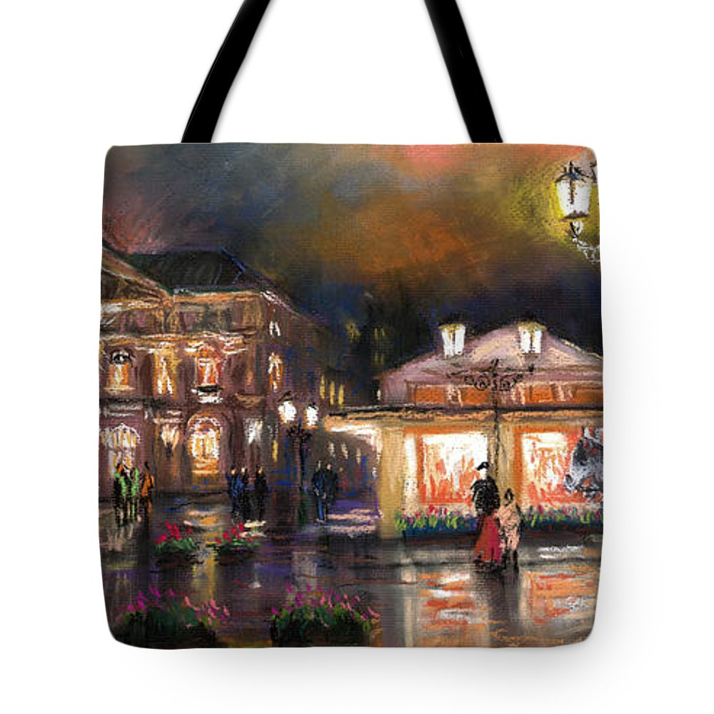 Pastel Tote Bag featuring the painting Germany Baden-baden 14 by Yuriy Shevchuk