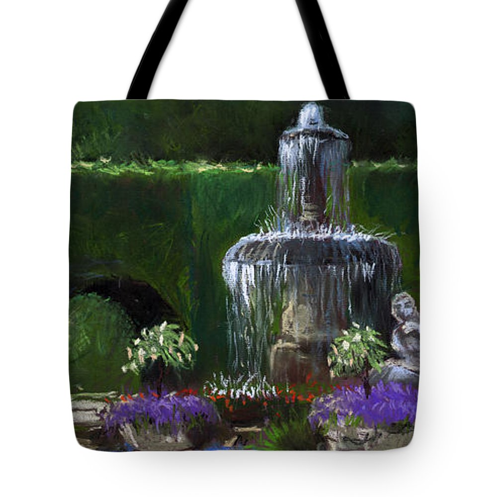 Pastel Tote Bag featuring the painting Germany Baden-baden 15 by Yuriy Shevchuk