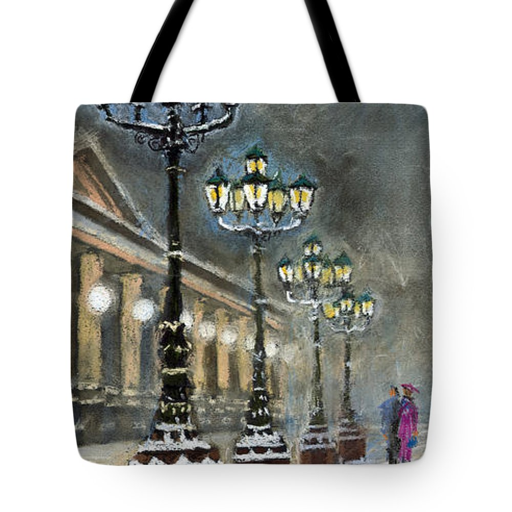 Pastel Tote Bag featuring the painting Germany Baden-baden Kurhaus by Yuriy Shevchuk