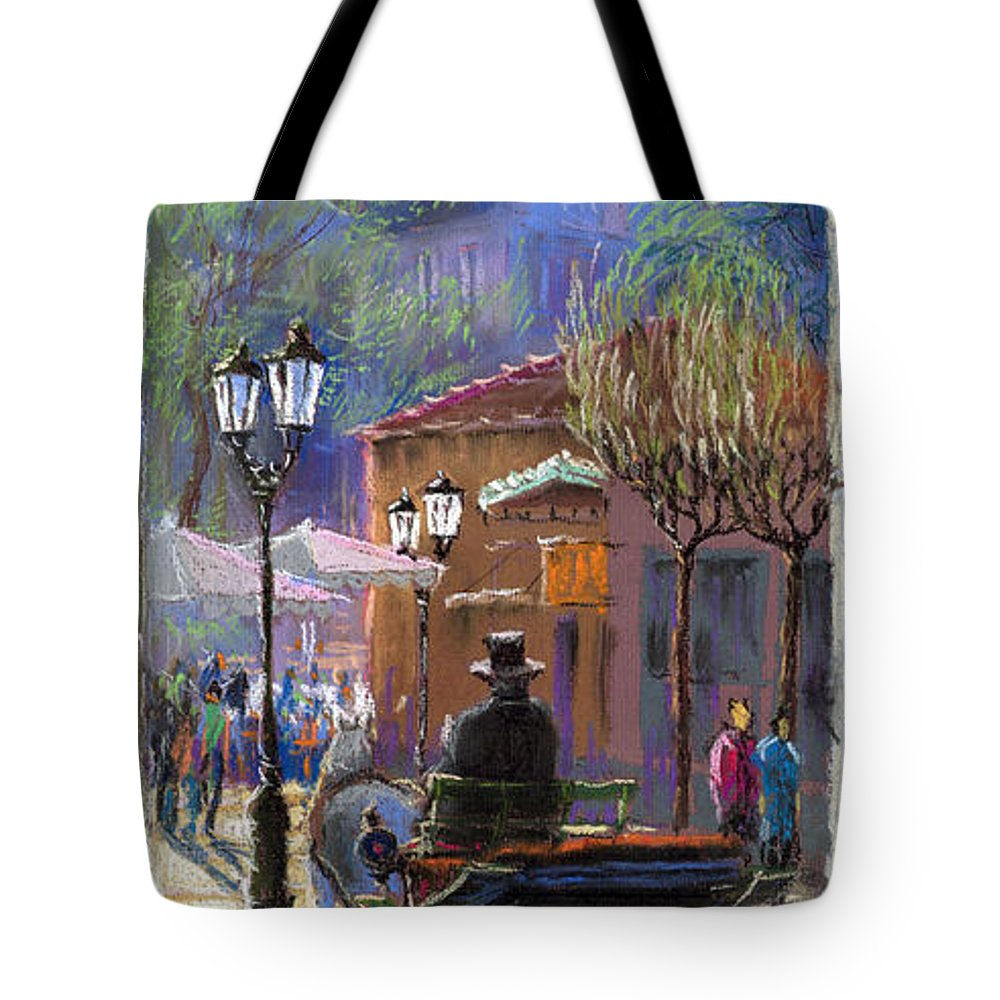 Pastel Tote Bag featuring the painting Germany Baden-baden Spring Ray by Yuriy Shevchuk