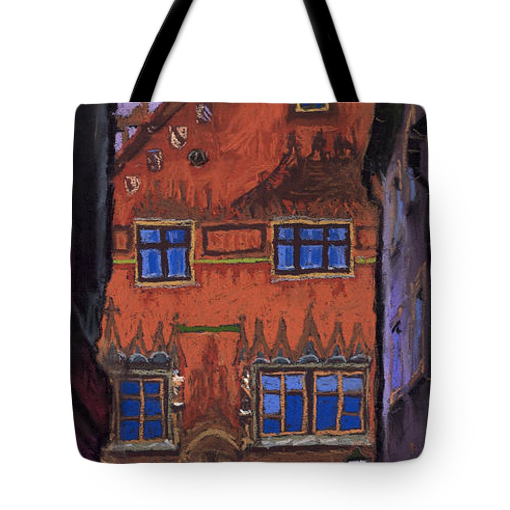 Pastel Tote Bag featuring the painting Germany Ulm by Yuriy Shevchuk