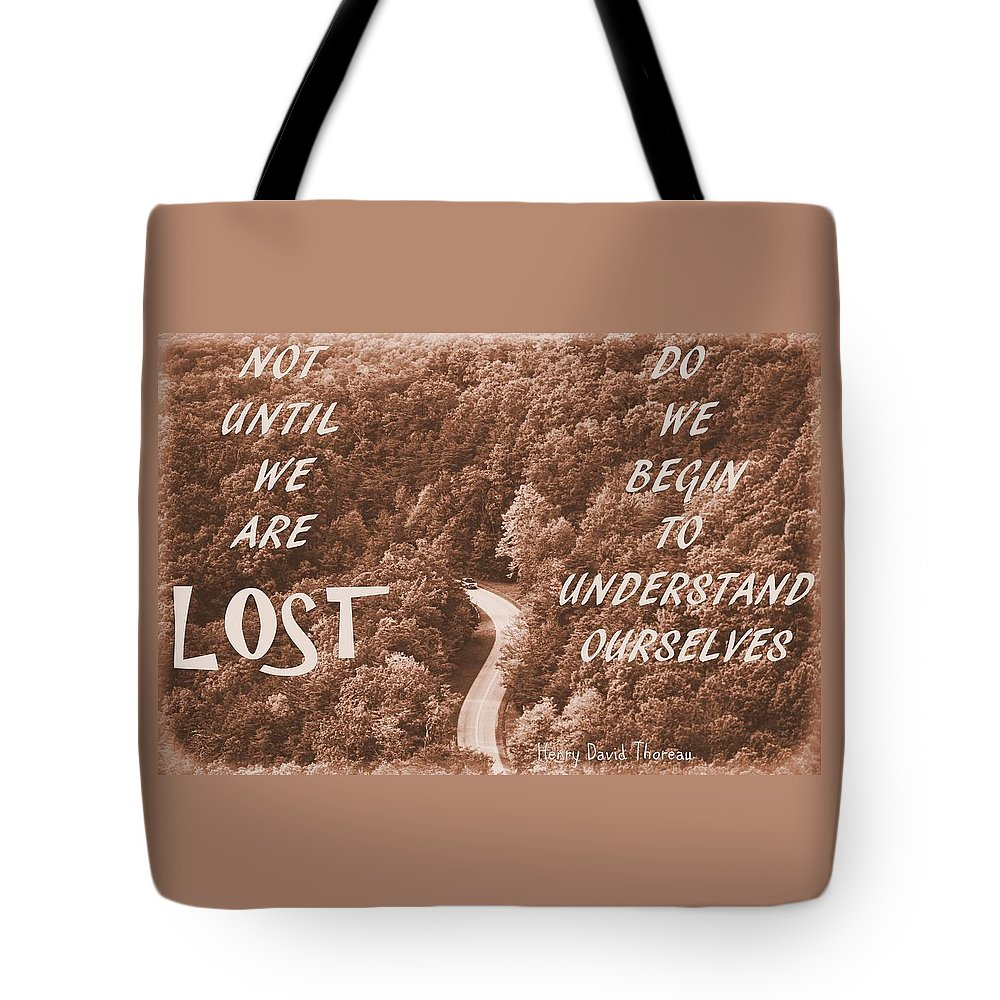 Get Lost Quote Tote Bag featuring the photograph Get Lost Quote by Dan Sproul