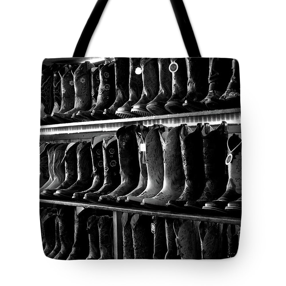 Boots Tote Bag featuring the photograph Get Me Some Boots by Leia Hewitt