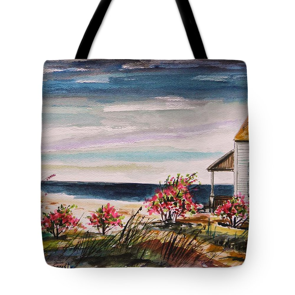 Beach Tote Bag featuring the painting Getaway by John Williams