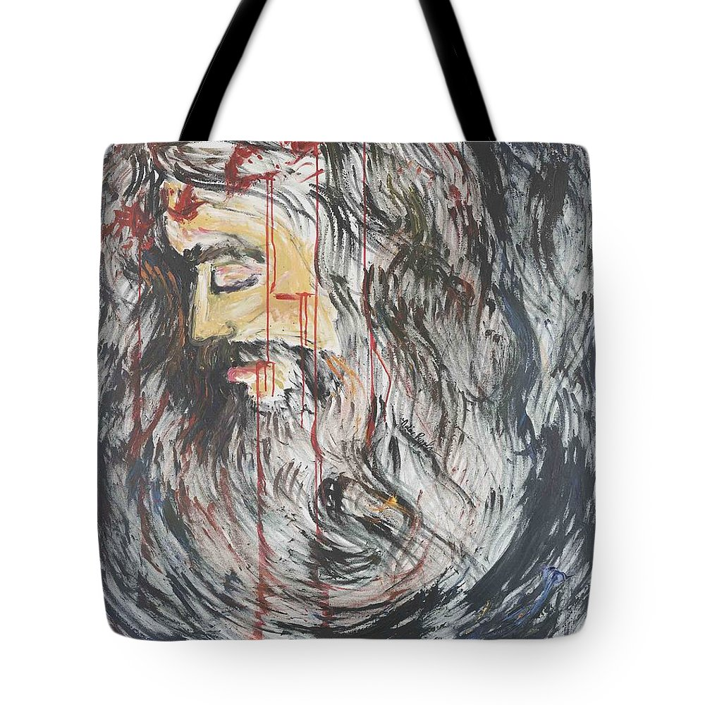 Jesus Tote Bag featuring the painting Gethsemane To Golgotha IIi by Nadine Rippelmeyer