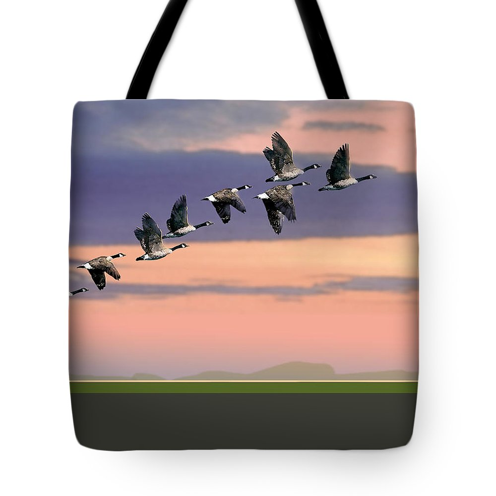 Tote Bag featuring the painting Getting In Formation by Paul Sachtleben