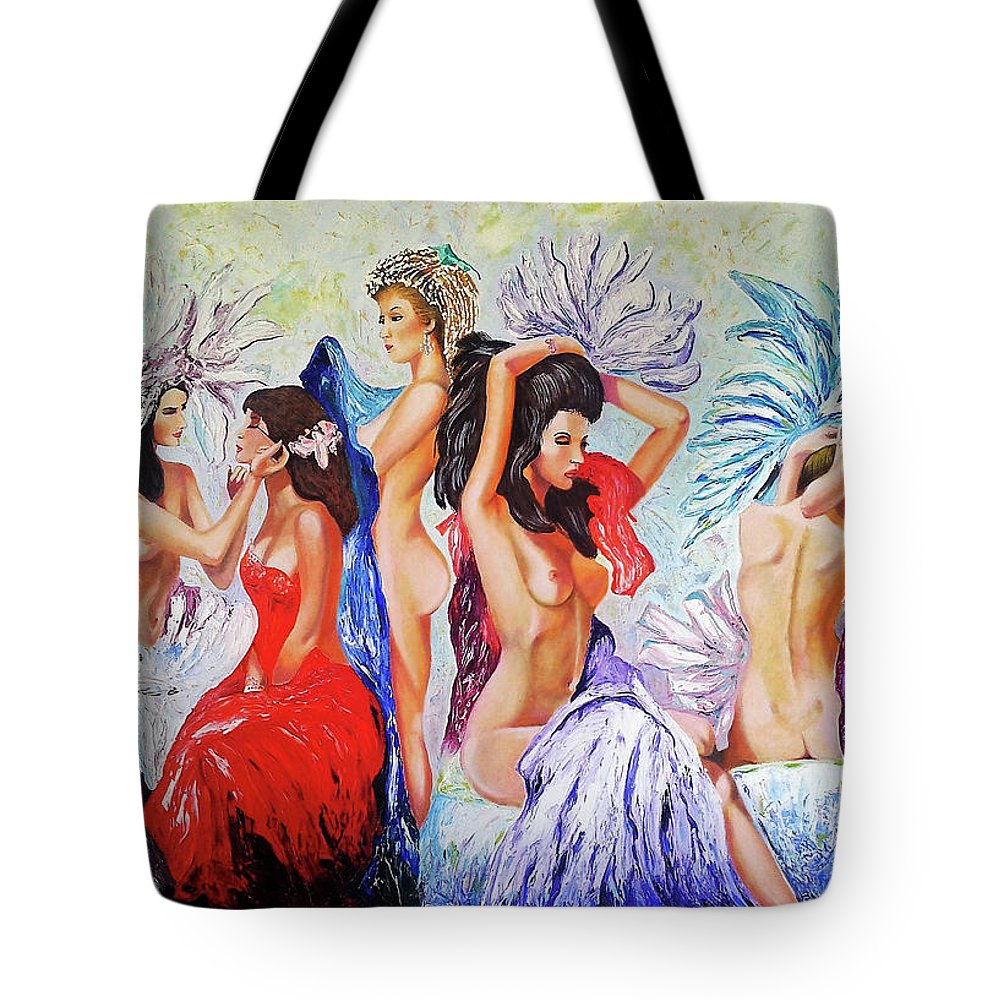 Women Tote Bag featuring the painting Getting Ready by Jose Manuel Abraham