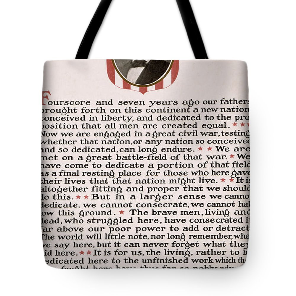 gettysburg Address Tote Bag featuring the photograph Gettysburg Address by International Images