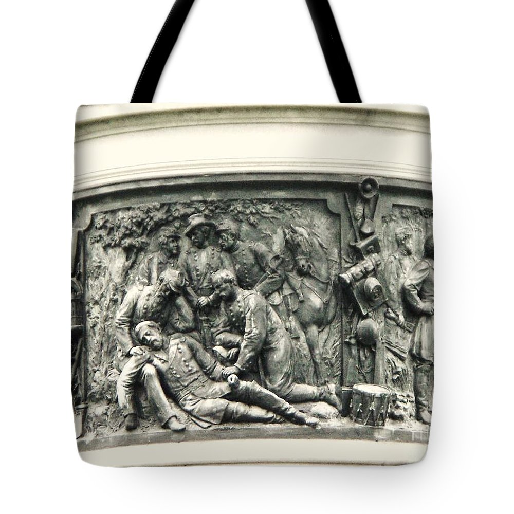 Gettysburg Tote Bag featuring the photograph Gettysburg Monument by Eric Schiabor