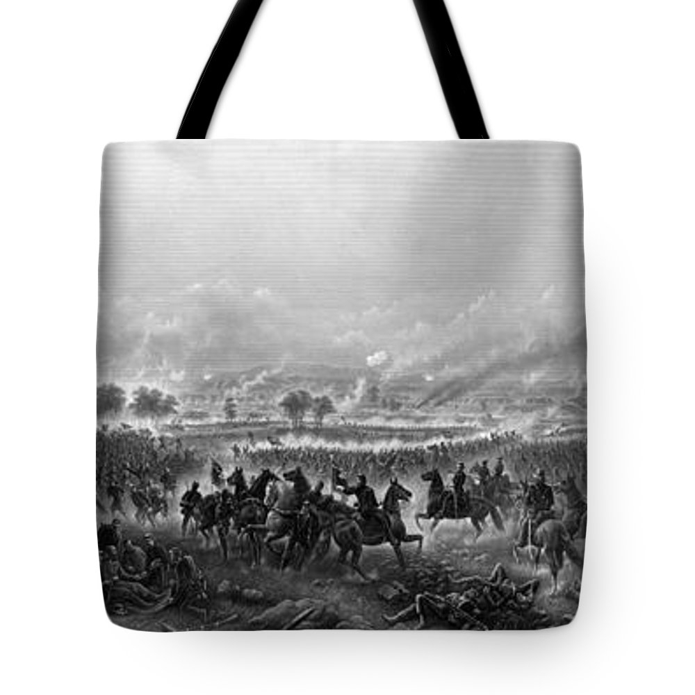 Gettysburg Tote Bag featuring the painting Gettysburg by War Is Hell Store