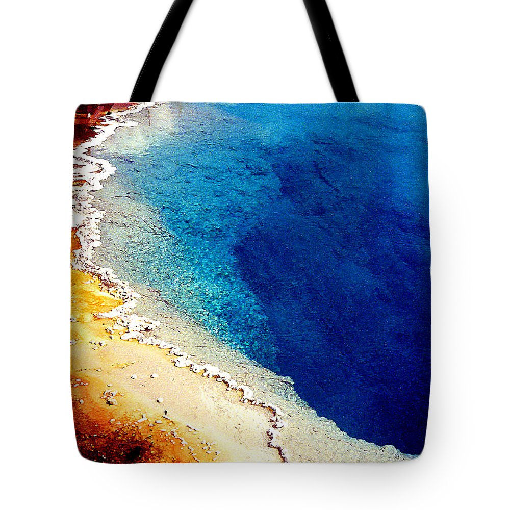 Geyser Tote Bag featuring the photograph Geyser Basin by Nancy Mueller