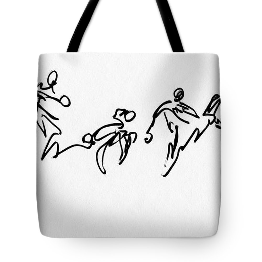 Ghana Tote Bag featuring the digital art Ghana-1 Bw by Anthe Capitan-Valais