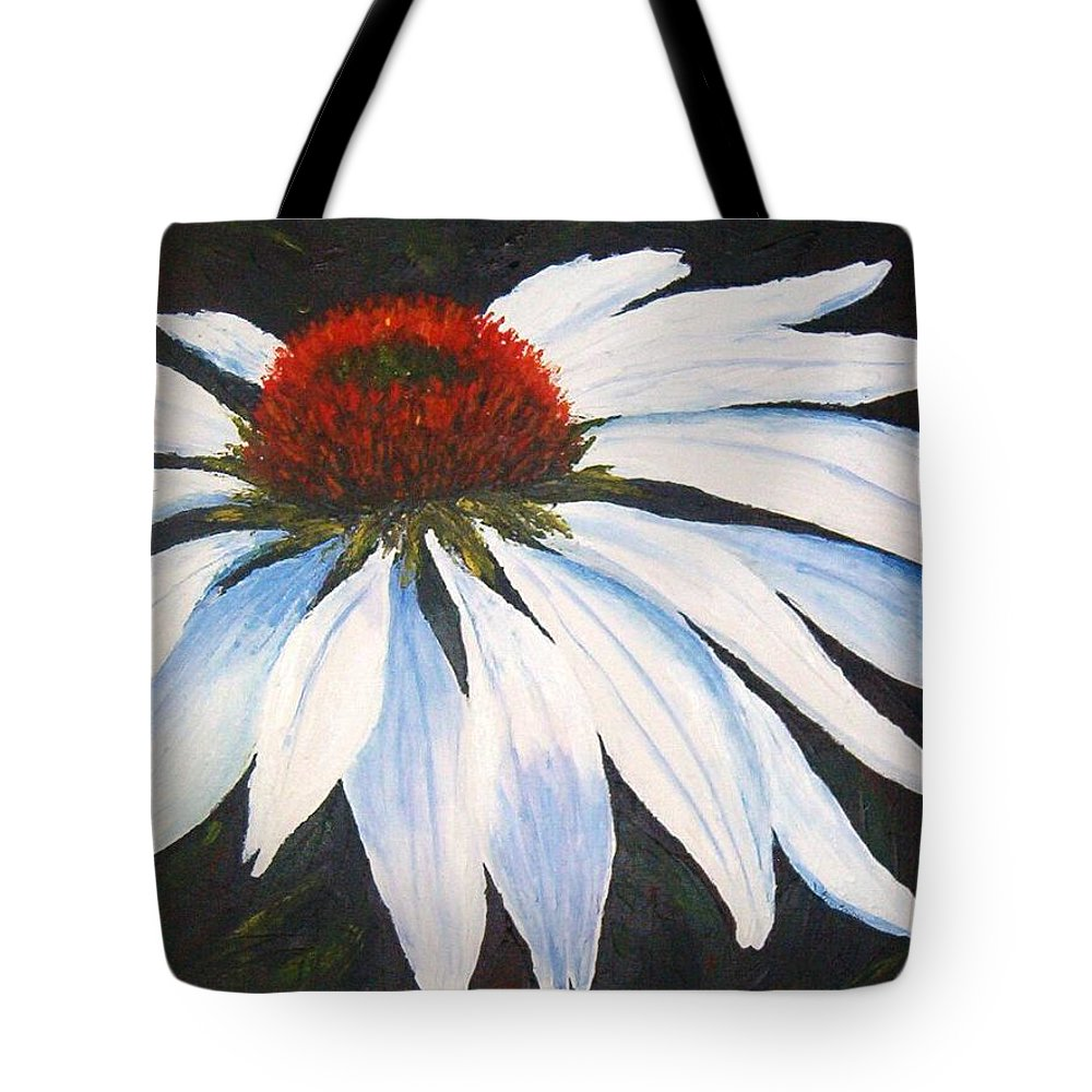 Cone Flowers Tote Bag featuring the painting Ghost Cone by Tami Booher