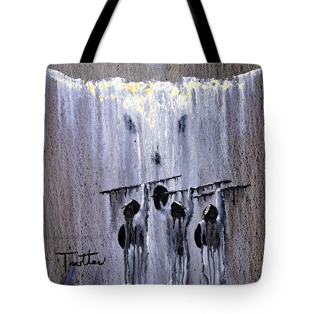 American Indian Tote Bag featuring the painting Ghost Dance by Patrick Trotter