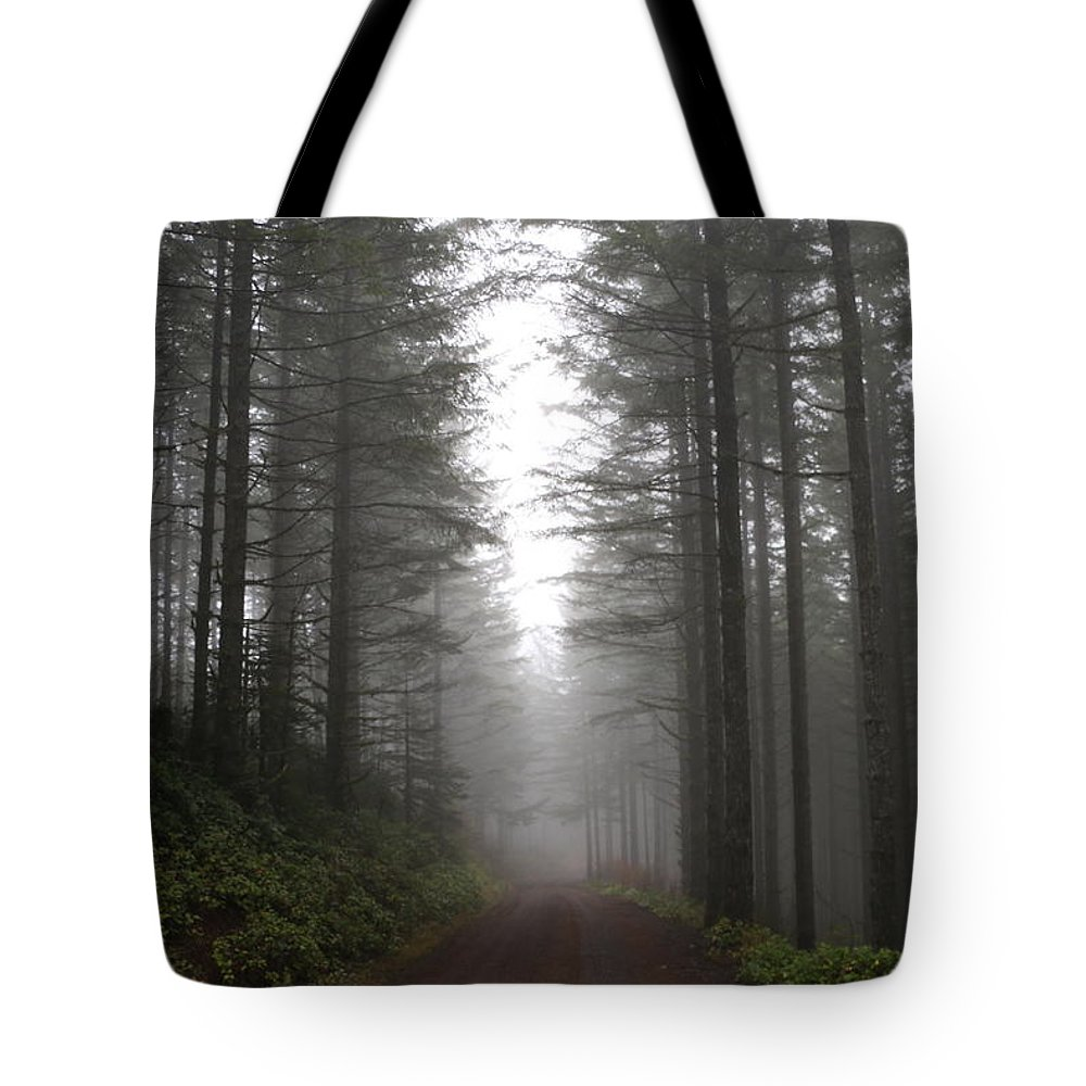 Trees Tote Bag featuring the photograph Ghost In The Woods by Dani Keating