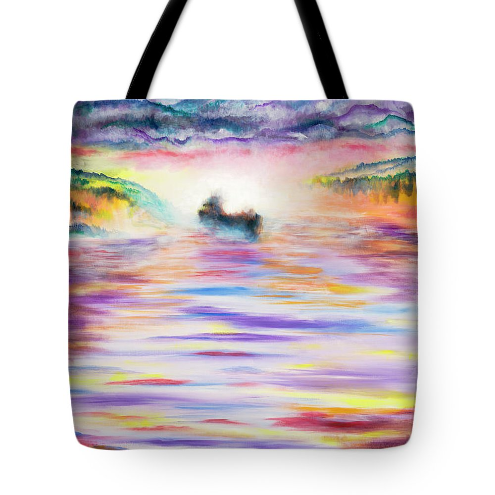 Ghost Tote Bag featuring the painting Ghost by Joe Baltich