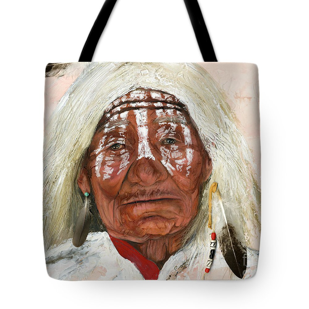 Southwest Art Tote Bag featuring the painting Ghost Shaman by J W Baker