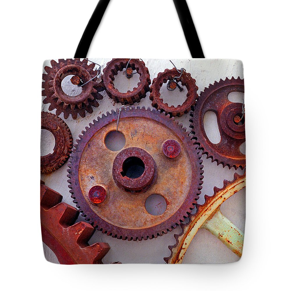 Gears Tote Bag featuring the photograph Ghost by Skip Hunt