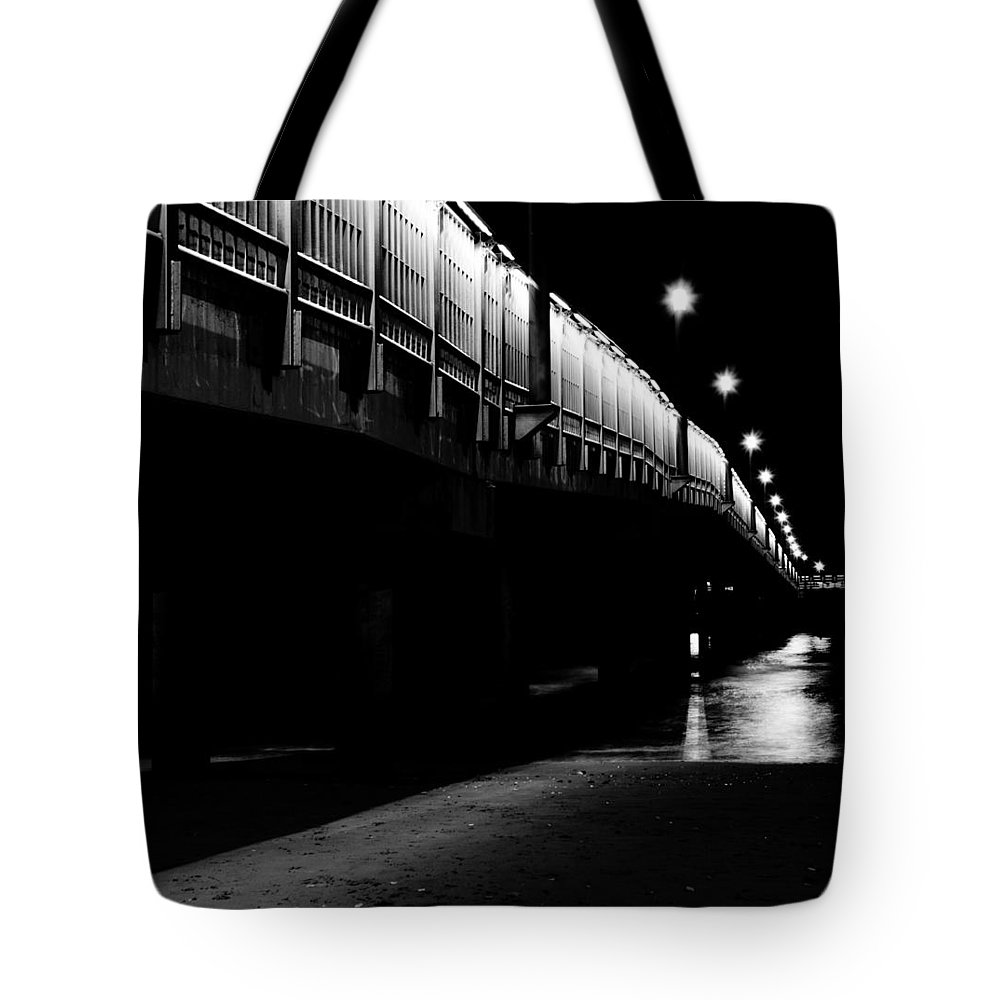Ghost Tote Bag featuring the photograph Ghostlights by Andrea Mazzocchetti