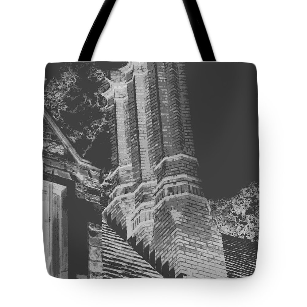 Chimneys Tote Bag featuring the photograph Ghostly Heights by Angela L Walker