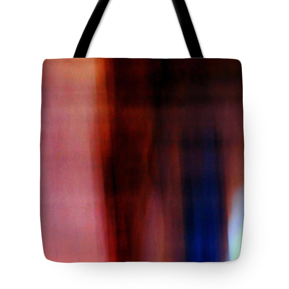 Abstract Photography Tote Bag featuring the photograph Ghosts In Burgundy by Karin Kohlmeier