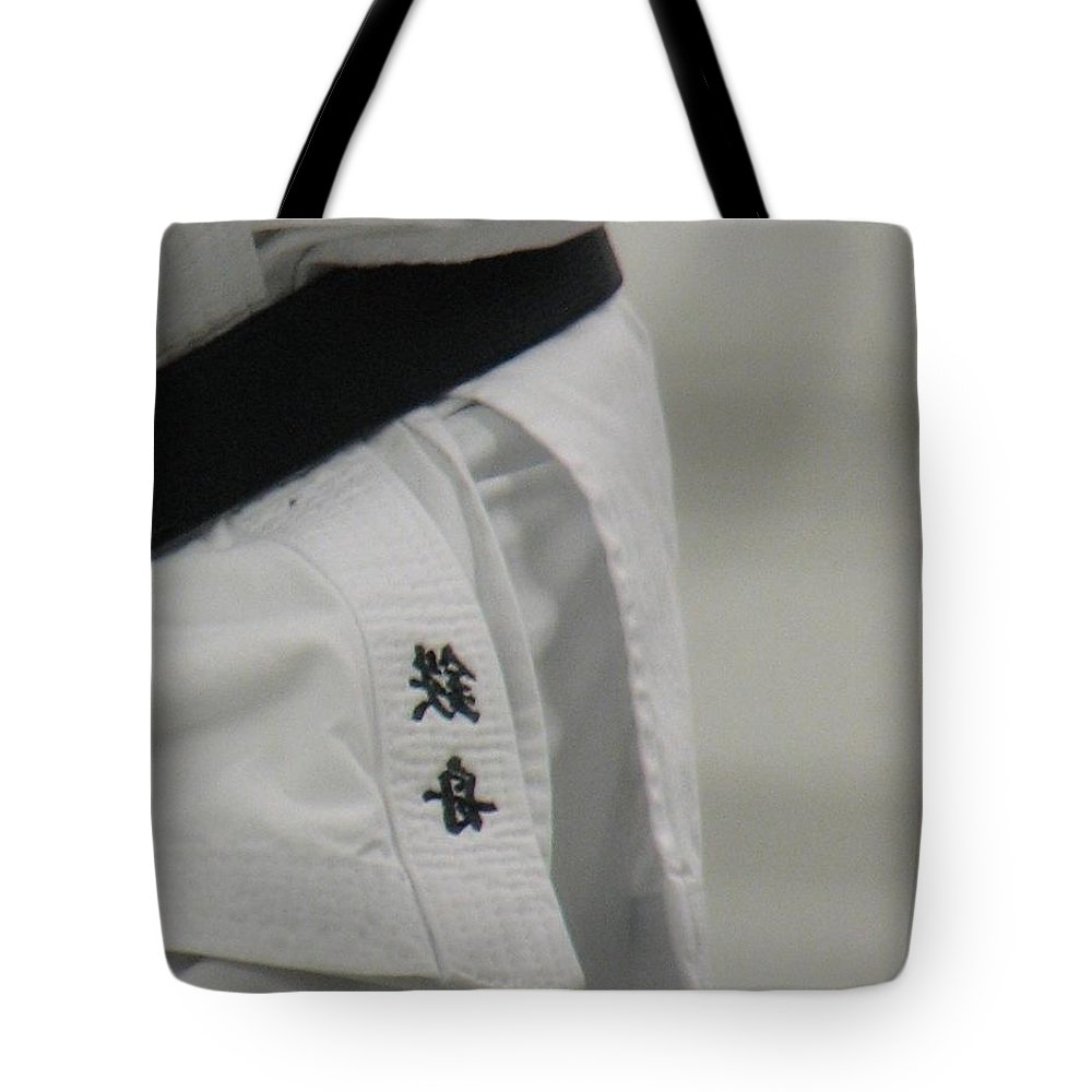 Karate Tote Bag featuring the photograph Gi by Kelly Mezzapelle