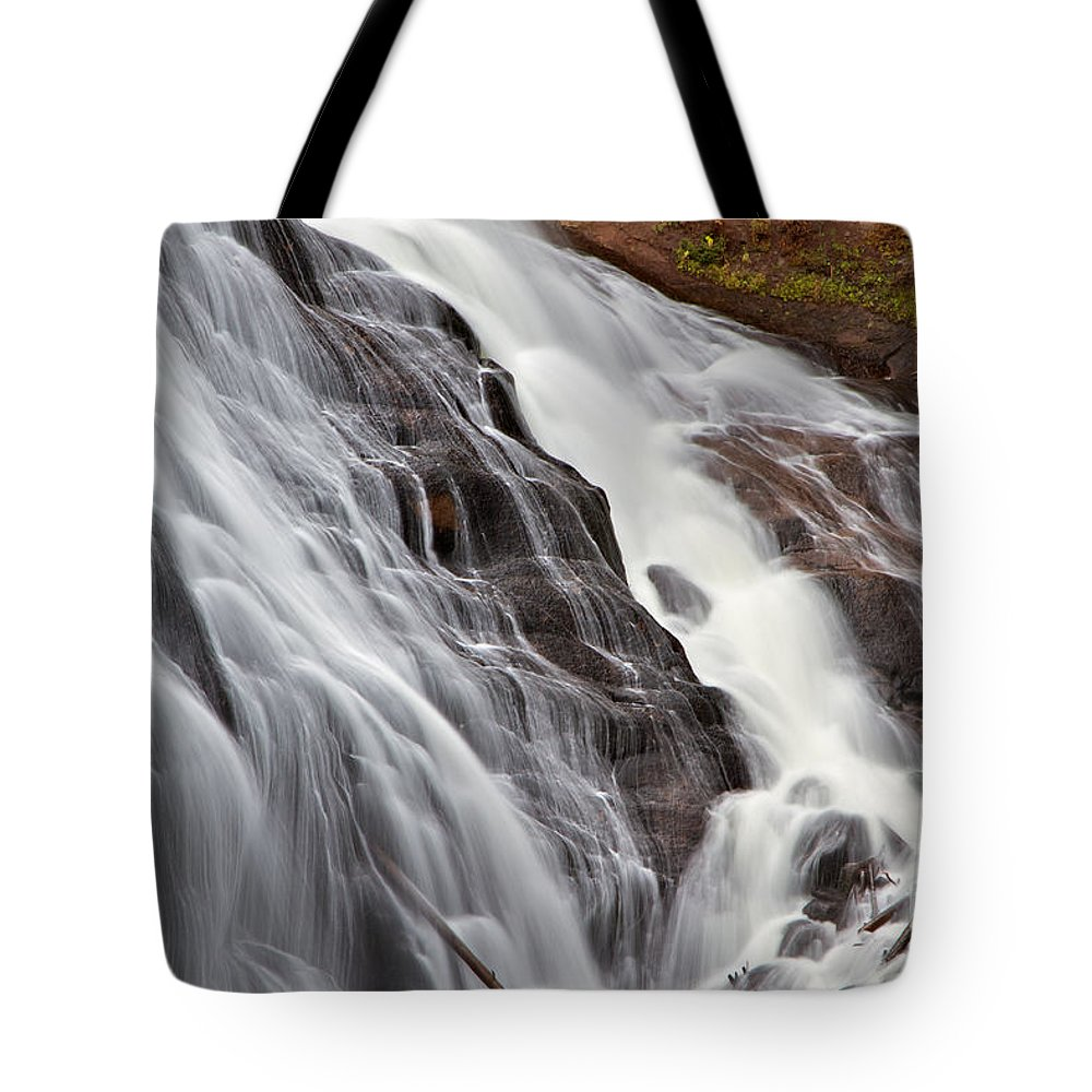 Gibbon Falls Tote Bag featuring the photograph Gibbon Falls by Daryl L Hunter