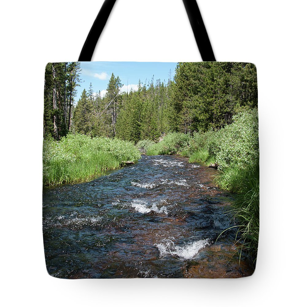 River Tote Bag featuring the photograph Gibbon River by Frank Madia