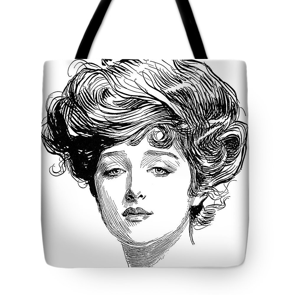 1900 Tote Bag featuring the photograph Gibson Girl, 1900 by Charles Dana Gibson