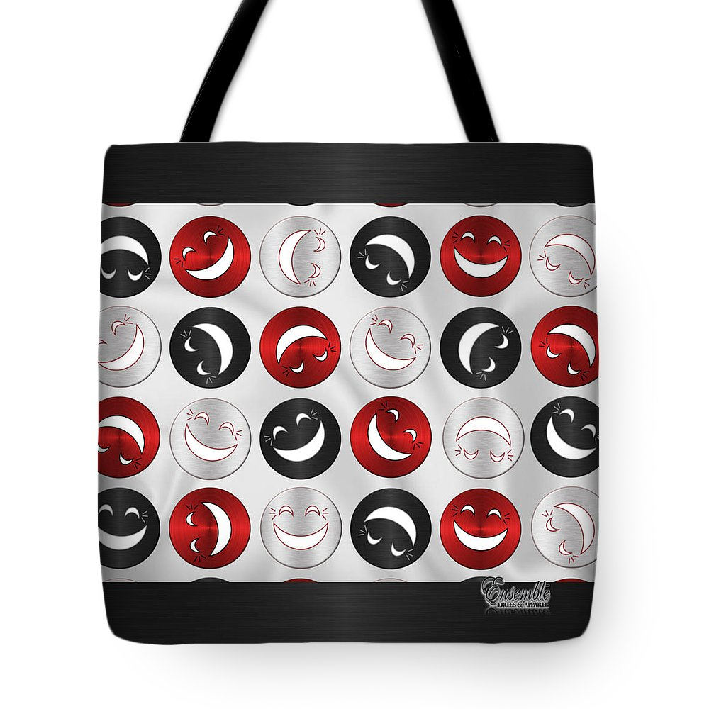 Giddy Tote Bag featuring the digital art Giddy Rbs by Brianne Simmons