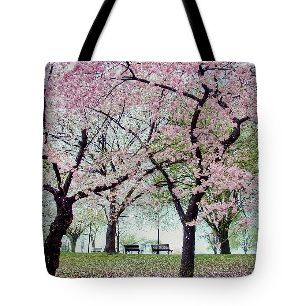 Cherry Blossoms Tote Bag featuring the photograph Gifts by Mitch Cat