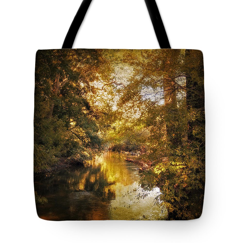 Nature Tote Bag featuring the photograph Gilded by Jessica Jenney