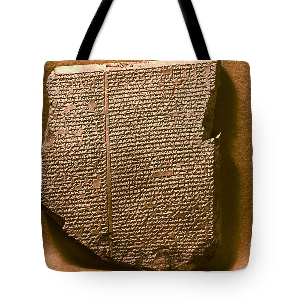 7th Century B.c. Tote Bag featuring the photograph Gilgamesh, 7th Century B.c by Granger