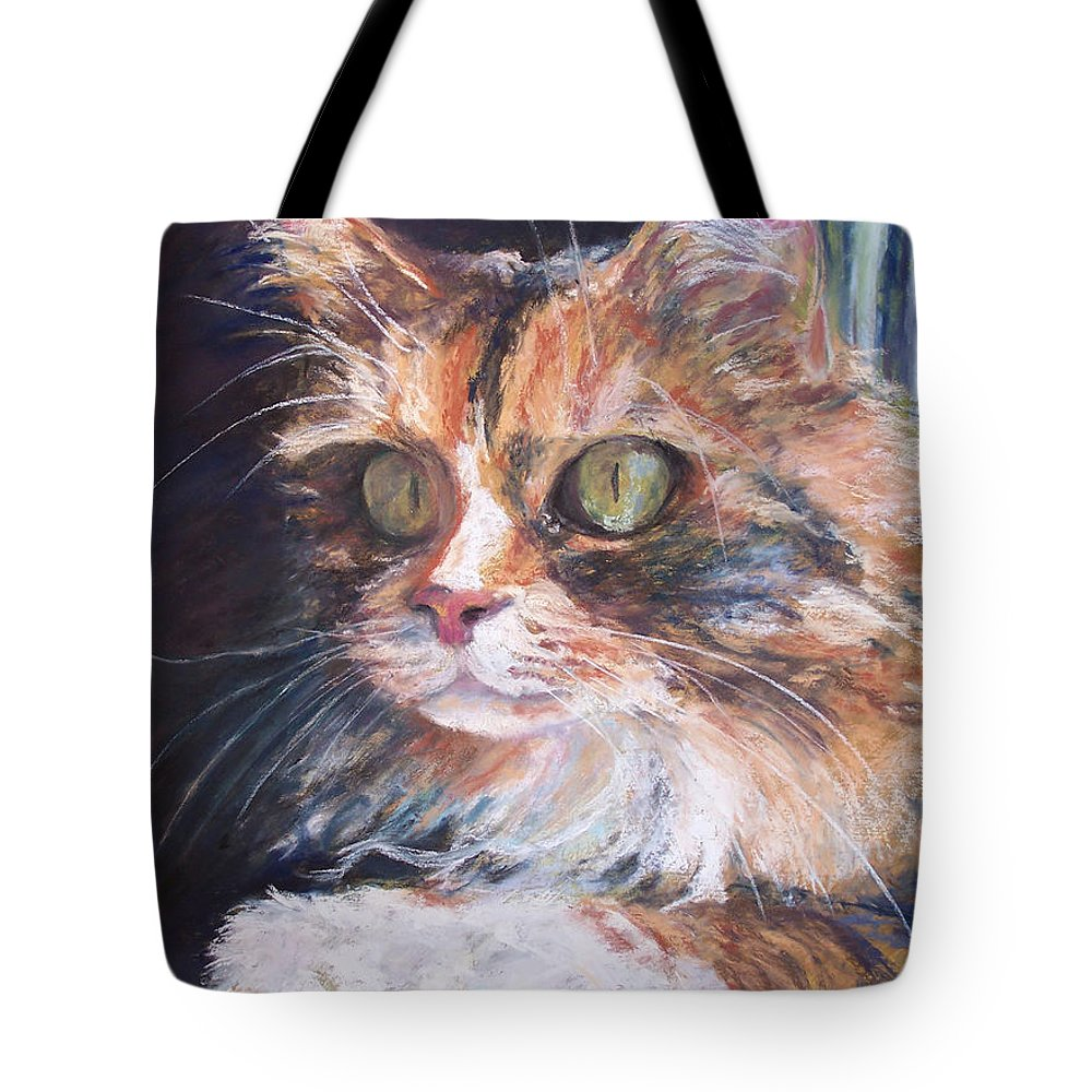 Original Pastel Tote Bag featuring the pastel Ginger - Ly by Alicia Drakiotes