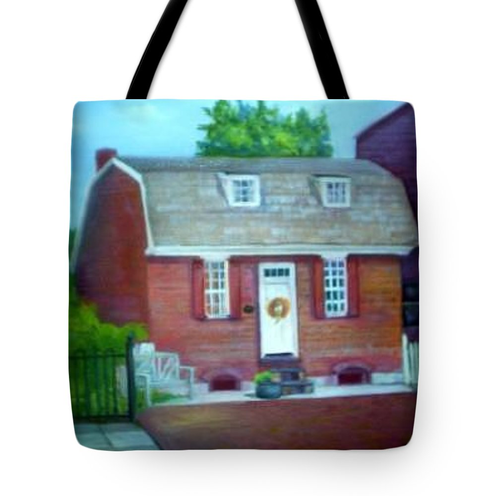 Revell House Tote Bag featuring the painting Gingerbread House by Sheila Mashaw